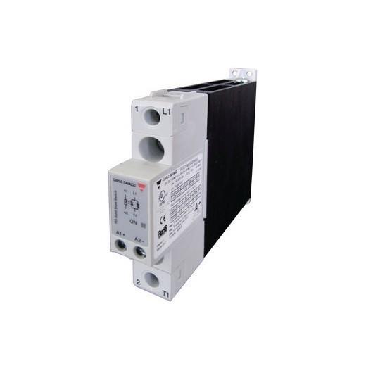 Relé de estado sólido, monofásico con disipador, Intensidad nominal 25A, tensión nominal 230 VAC, alimentación AC, RGC1A23A25K