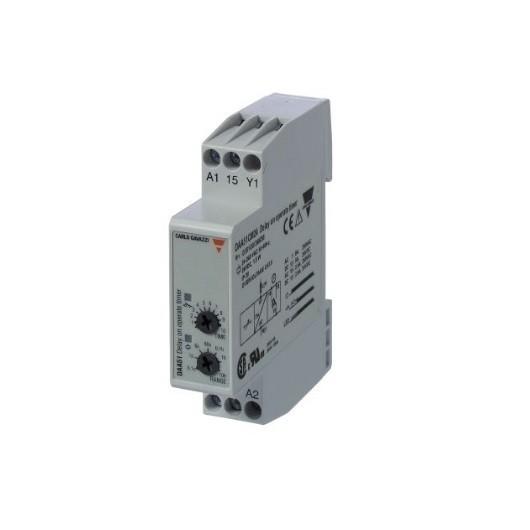 Temporizador de carril DIN con retardo a la conexión, rango 0.1s a 100h, DAA51CM24