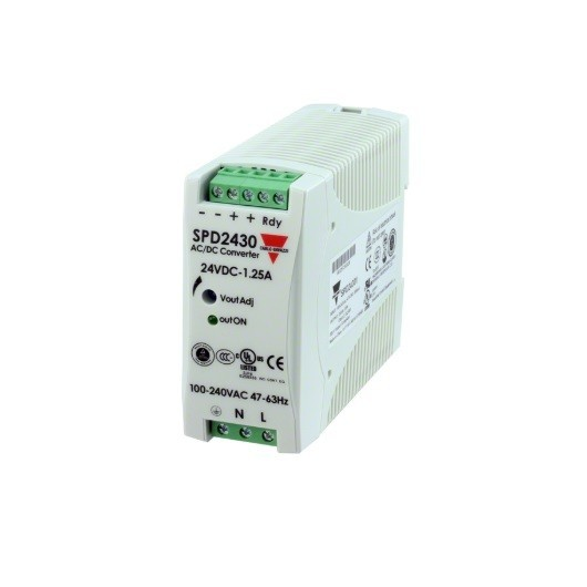 Fuente alimentación carril DIN 24 VDC,30W, 1´25A, SPD24301