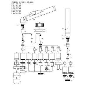 "Antorcha plasma CEBORA P150  Conjunto cable 6 mts 1/8""-torcha manual    art30"