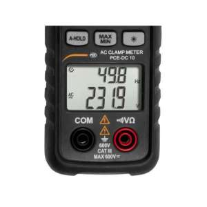 Pinza amperimétrica PCE-DC 10