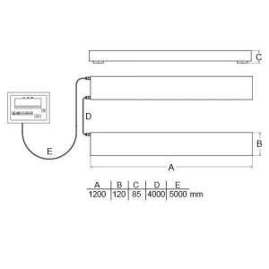 Balanza para palés PCE-SW 3000N