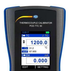 Calibrador de termoelementos PCE-TTC 30